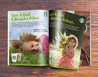 Starbucks Brand Web & Print Advertising