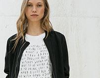 Text block t-shirt for Bershka_SS16