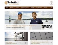 Timbertech website (desktop)