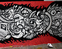 Ochen x Sanditio x Bobby Hartanto Mural Collaboration
