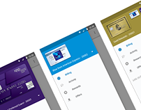 Material Design Iterations