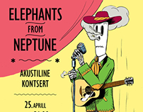 Elephants From Neptune acoustic concert poster