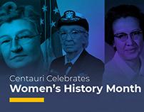 Women's History Month at Centauri