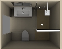 Small bathroom visualization