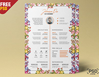 Beautiful Resume Design PSD Template