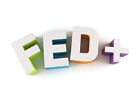 Making of FED+ logo