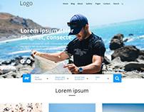 Travel Web UI Design