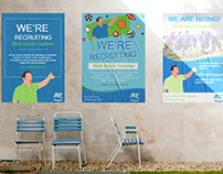 Sports Coach Job Advert Posters & Mockup