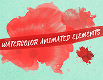 70 Watercolor Animated Elements