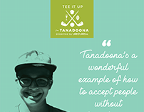 Tee It Up for Tanadoona Logo Design and Event Branding