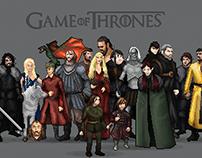 Game of Thrones in Pixel Art