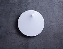 """15.37.06""  Wall clock design (spandex)"