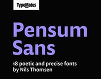 Pensum Sans — a poetic and precise typeface
