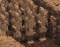 Magicavoxel Terracotta Warriors 立体像素兵马俑