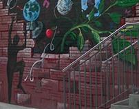 Mural at Primary School, Francuska street, Belgrade