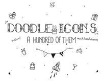 100 Doodle Icon Set