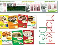 Market Deli Identity and Marketing Print Design