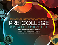 MIAD Pre-college poster and postcard