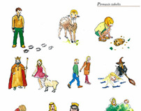 Illustrations for Lithuanian language workbook