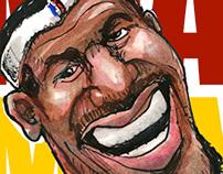 Sports Caricature Illustration