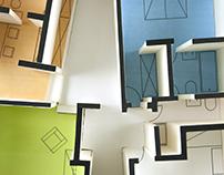 Architectural maquettes: Casa Unifamiliare, Gio Ponti