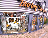Harley Davidson officiel Lyon - Vitrines custom