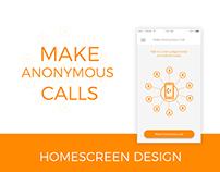 Homescreen design