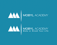 Rejected logo for MOBYL Academy