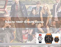 Range of VM props for Tommy Hilfiger watches