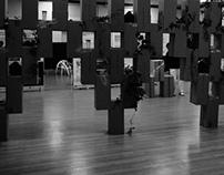 Exhibition design - cardboard modular display