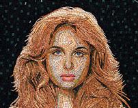 Lucia- mosaic portrait