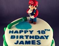 Super Mario Plumber Birthday Cake