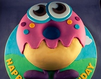 Oddie Moshi Monsters Birthday Cake