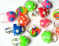 Hand Crafted Polymer Clay Rings