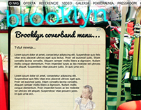 Brooklyn Coverband webpage design.