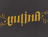Melina ambigram
