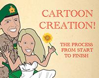 How I created the cartoon for the wedding invitation
