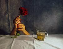 Surreal flower tea