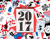 EVERYDAY GRAPHIC CALENDAR 2017