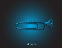 Paper Clip + Trumpet