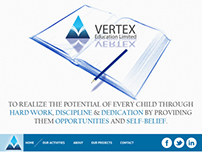 website design for vertex education