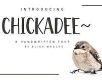 Chickadee - A Handwritten Font