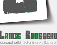 Business card design for Lance Rousseau