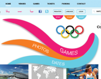 London 2012 Summer Olympics Website Design Concept