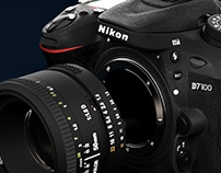Nikon D7100 3D Product Visualisation