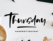 Thursday Vibes - Handwritten Font