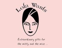BRAND & WEBSITE DESIGN: www.LolaWants.com