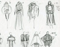 Halston Mentorship: Rough Sketches/Process/Drapes
