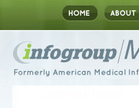 InfoGroup | Medical website design
