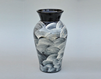 Stoneware Vases- Slip Decorated 2002-06